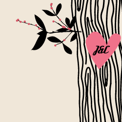 Wedding Invitation: Tree Love, designed by Participating studio: Mister and Missis