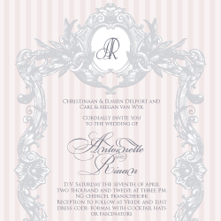 Wedding Invitation: Marie-Antoinette, designed by Participating studio: Dusty Mountain