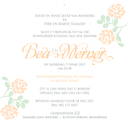 Wedding Invitation: Peach Blossom Bride, designed by Participating studio: Dusty Mountain