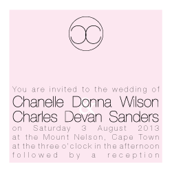 Wedding Invitation: Chanel, designed by Participating studio: Dusty Mountain