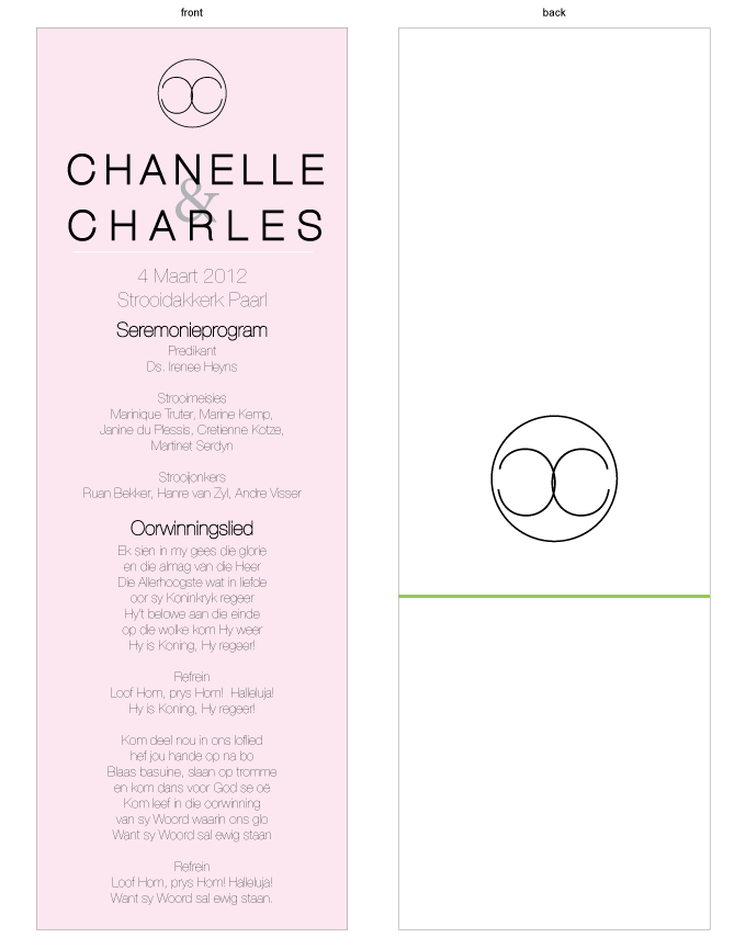 Order of service - Chanel: MPC001-008-OOS01.png