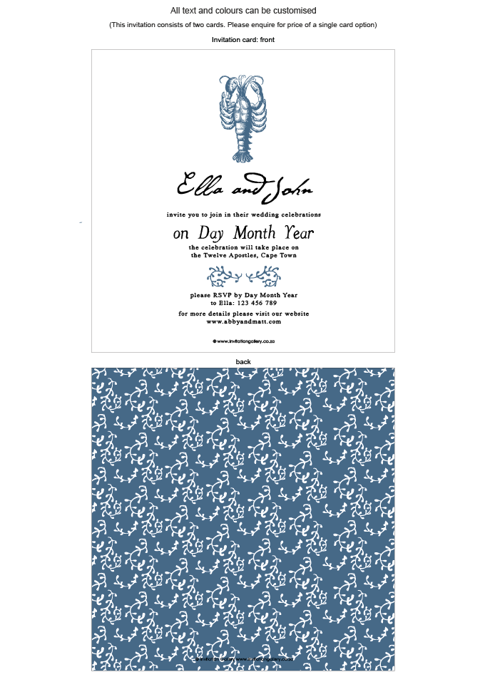 Invitation - Tropical Rain: invitation-gallery-wedding-stationery-MPC001-012-INV01-front-and-back.png