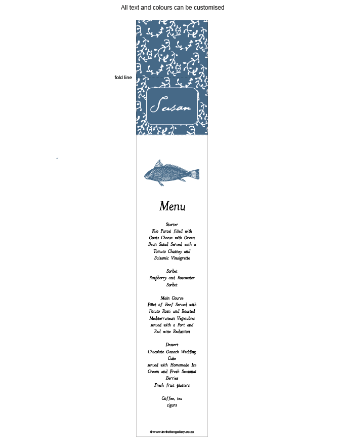 Menu and name card combined - Tropical Rain: invitation-gallery-wedding-stationery-MPC001-012-MNC01.png