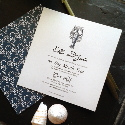Wedding Invitation: Tropical Rain, designed by Participating studio: Dusty Mountain
