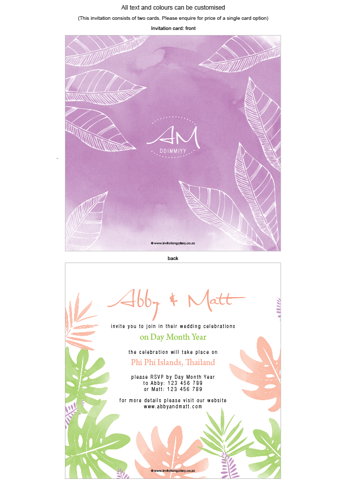 Invitation - Tropical Bliss: invitation-gallery-wedding-stationery-MPC001-014-INV01.png