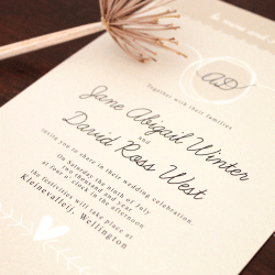Wedding Invitation:  Plain Jane, designed by Participating studio: Dusty Mountain
