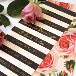 Wedding Invitation: Roses & Perfume, designed by Participating studio: Dusty Mountain