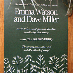 Wedding Invitation: Forestry, designed by Participating studio: Dusty Mountain