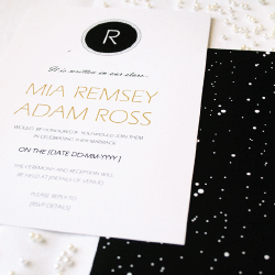 Wedding Invitation: Moonlight, designed by Participating studio: Dusty Mountain