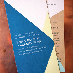 Wedding Invitation: Geometrics, designed by Participating studio: Dusty Mountain