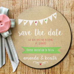 Wedding Invitation: Sunshine Love, designed by Participating studio: Dusty Mountain