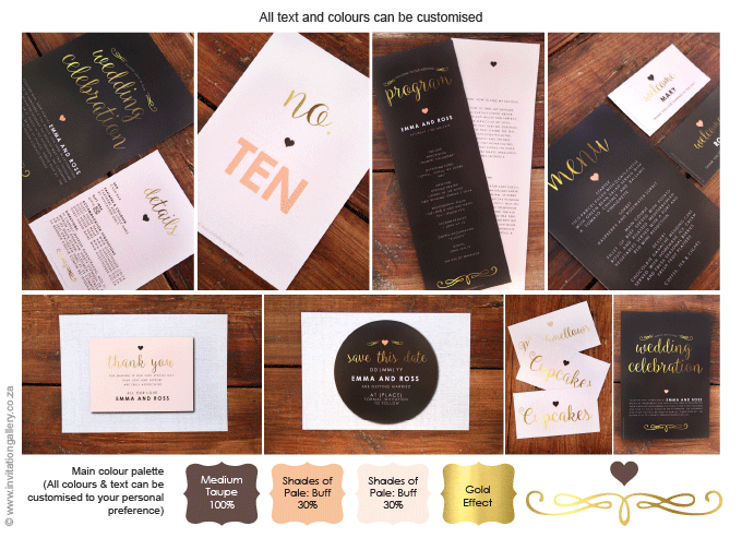 Invitation - Heart of Gold: invitation-gallery-wedding-stationery-MPC001-030-Picture-Collage.png