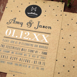 Wedding Invitation: Mikella, designed by Participating studio: Dusty Mountain