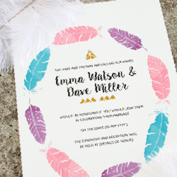Wedding Invitation: Tribal Tribute, designed by Participating studio: Dusty Mountain