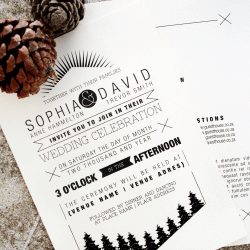 Wedding Invitation: Alabama Daydreams, designed by Participating studio: Dusty Mountain