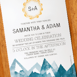 Wedding Invitation: Mystic Mountains, designed by Participating studio: Dusty Mountain