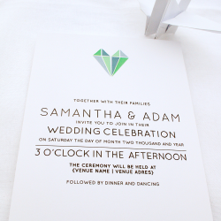 Wedding Invitation: Origami Love, designed by Participating studio: Dusty Mountain