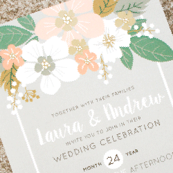 Wedding Invitation: Laura, designed by Participating studio: Dusty Mountain