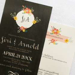 Wedding Invitation: Siri, designed by Participating studio: Dusty Mountain