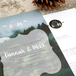 Wedding Invitation: Vintage Moments, designed by Participating studio: Dusty Mountain