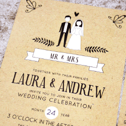 Wedding Invitation: Wedding Couple, designed by Participating studio: Dusty Mountain