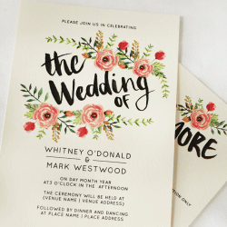 Wedding Invitation: Dreamy Days, designed by Participating studio: Dusty Mountain