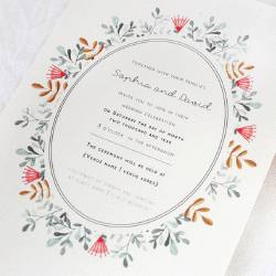 Wedding Invitation: Folksy, designed by Participating studio: Dusty Mountain
