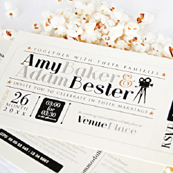 Wedding Invitation: The Movies, designed by Participating studio: Dusty Mountain