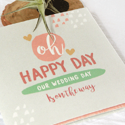 Wedding Invitation: O Happy Day, designed by Participating studio: Dusty Mountain