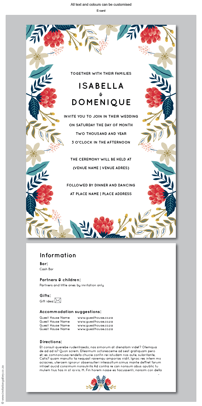 E-Invite (for email) - Hint of Summer: Invitation-gallery-wedding-stationery-summer-floral-modern-e-invite.png