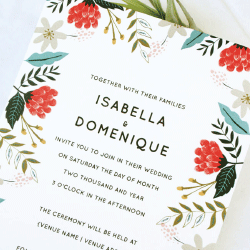 Wedding Invitation: Hint of Summer, designed by Participating studio: Dusty Mountain