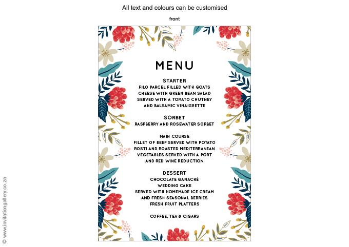 Menu - Hint of Summer: Invitation-gallery-wedding-stationery-summer-floral-modern-menu.png