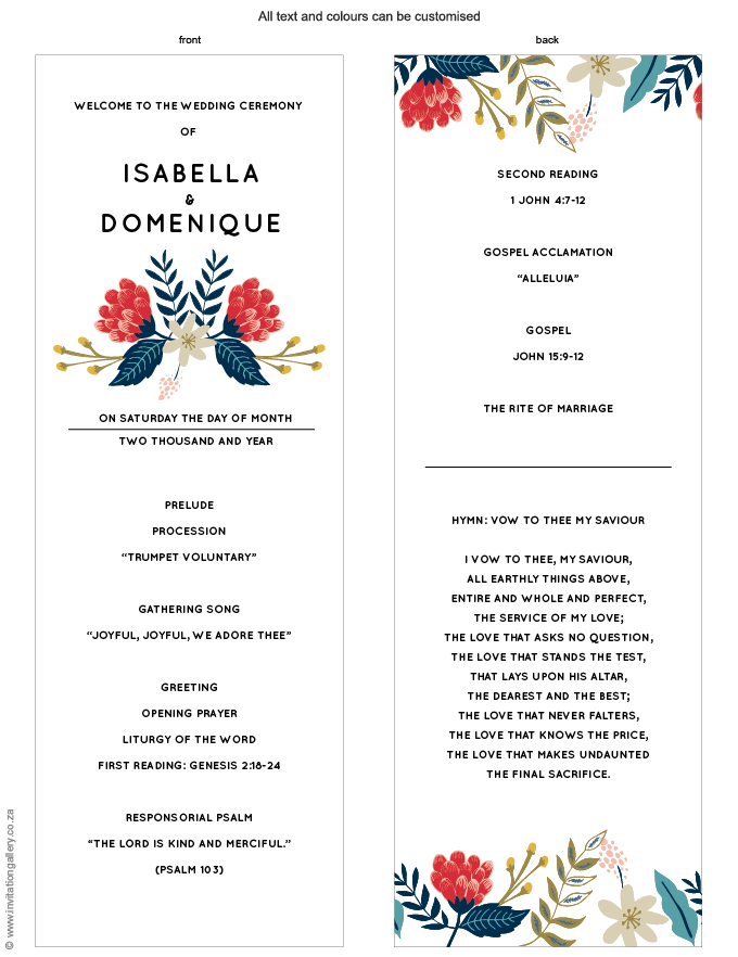 Program for the day - Hint of Summer: Invitation-gallery-wedding-stationery-summer-floral-modern-programme.png