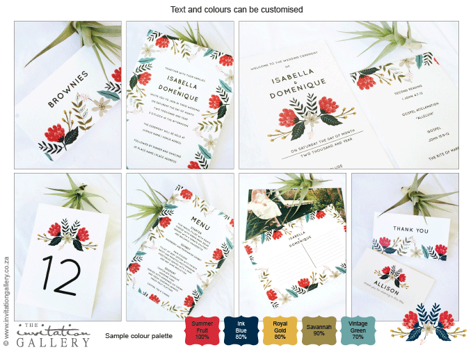 Invitation - Hint of Summer: Invitation-gallery-wedding-stationery-summer-floral-modern-set.png