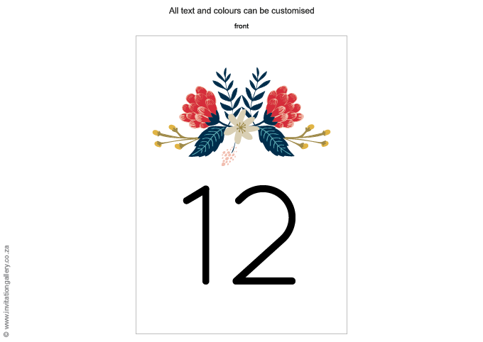 Table number - Hint of Summer: Invitation-gallery-wedding-stationery-summer-floral-modern-table-number.png