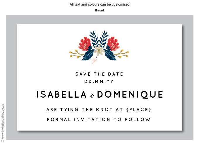 Save the Date - HTML for email - Hint of Summer: Invitation-gallery-wedding-stationery-summer-floral-save-the-date.png