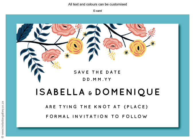 Save the Date - HTML for email - Breezy: Invitation-gallery-wedding-stationery-flower-fresh-garden-save-the-date.png