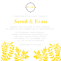 Wedding Invitation: Summer Romance, designed by Studio Sol