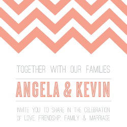 Wedding Invitation: Chevron, designed by Participating studio: Studio Sol