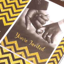 Wedding Invitation: Chevron Chique, designed by Participating studio: Studio Sol
