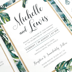 Wedding Invitation: Tropical Dream, designed by Participating studio: Studio Sol