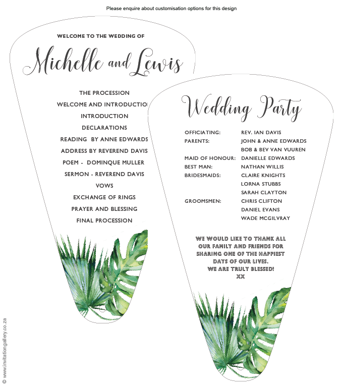 Program for the day - Tropical Dream: invitation-gallery-wedding-stationery-tropical-beach-programme.png