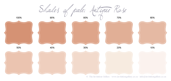Colour palette: Antique Rose