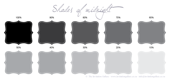 Colour palette: Shades of Midnight