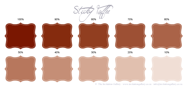 Colour palette: Sticky Toffee