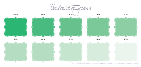 Colour palette: Underwater Green