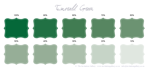 Colour palette: Emerald-Green