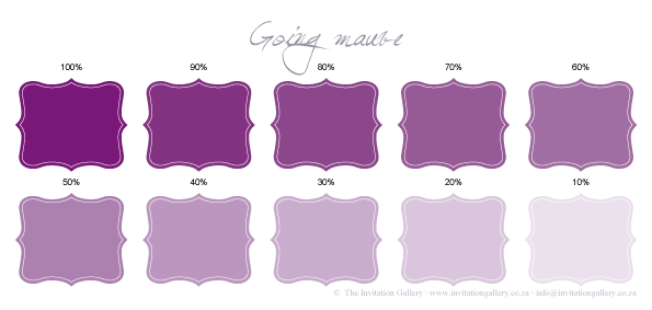 Colour palette: Going Mauve