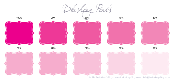Colour palette: Blushing Pink