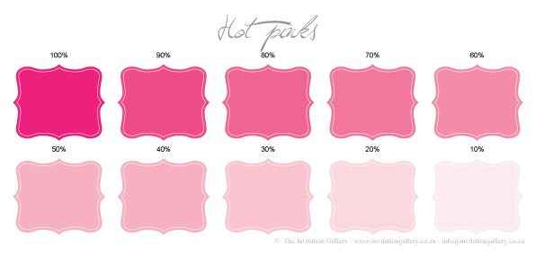 Colour palette: Hot Pinks